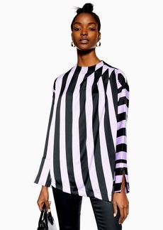 Topshop Wide Stripe Blouse
