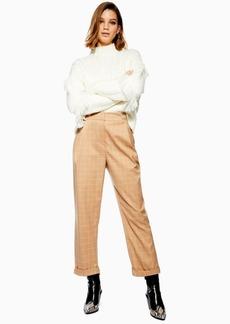 Topshop Windowpane Check Mensy Trousers
