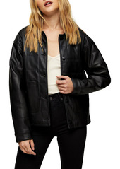 Women's Topshop Boxy Quilt Faux Leather Jacket
