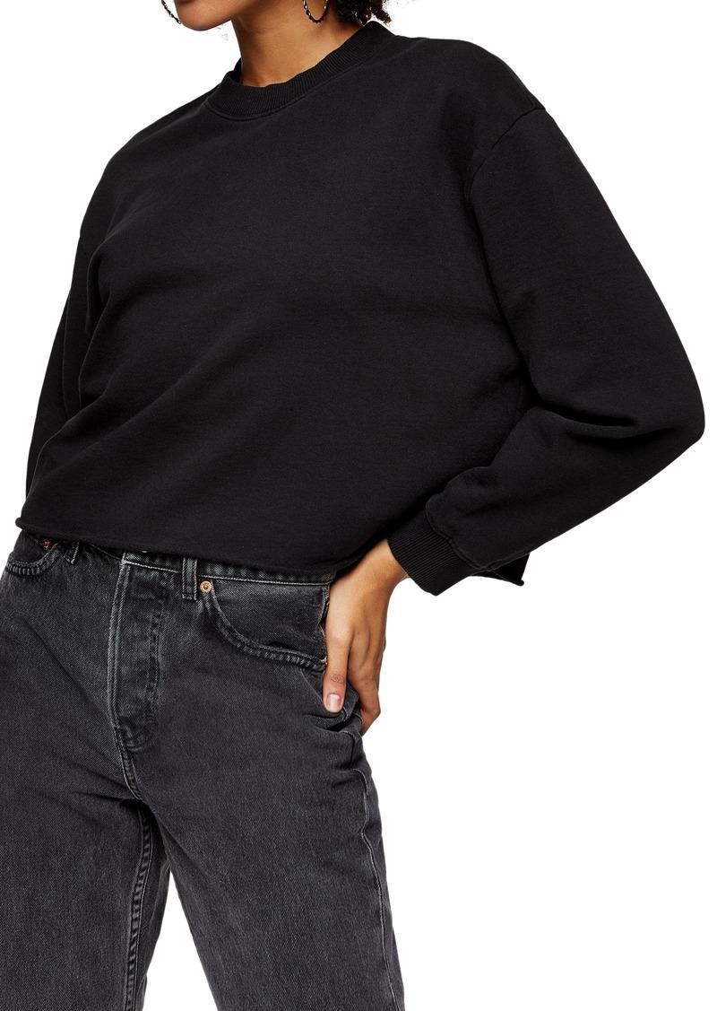 Women's Topshop Crewneck Crop Sweatshirt