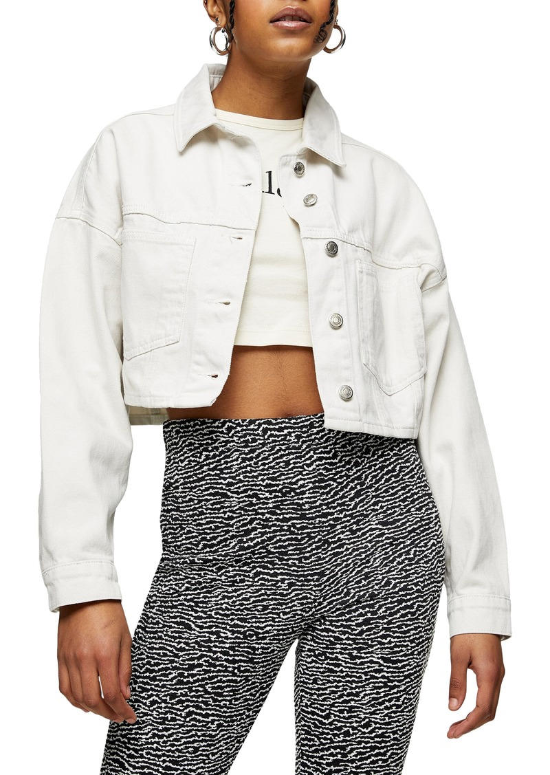 Women's Topshop Crop Denim Jacket