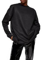 Women's Topshop Diamante Oversize Sweatshirt