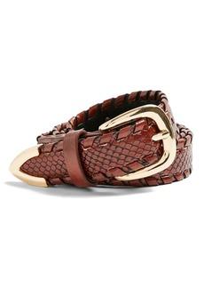 Women's Topshop Faux Leather Belt