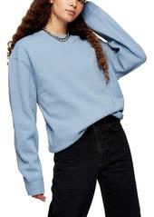 Women's Topshop Flatlock Oversize Sweatshirt