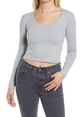 Women's Topshop Lace Pointelle Top