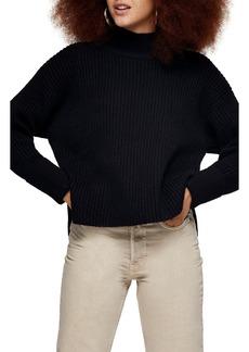 Women's Topshop Mock Neck Crop Sweater