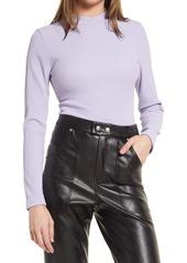 Women's Topshop Mock Neck Long Sleeve Bodysuit