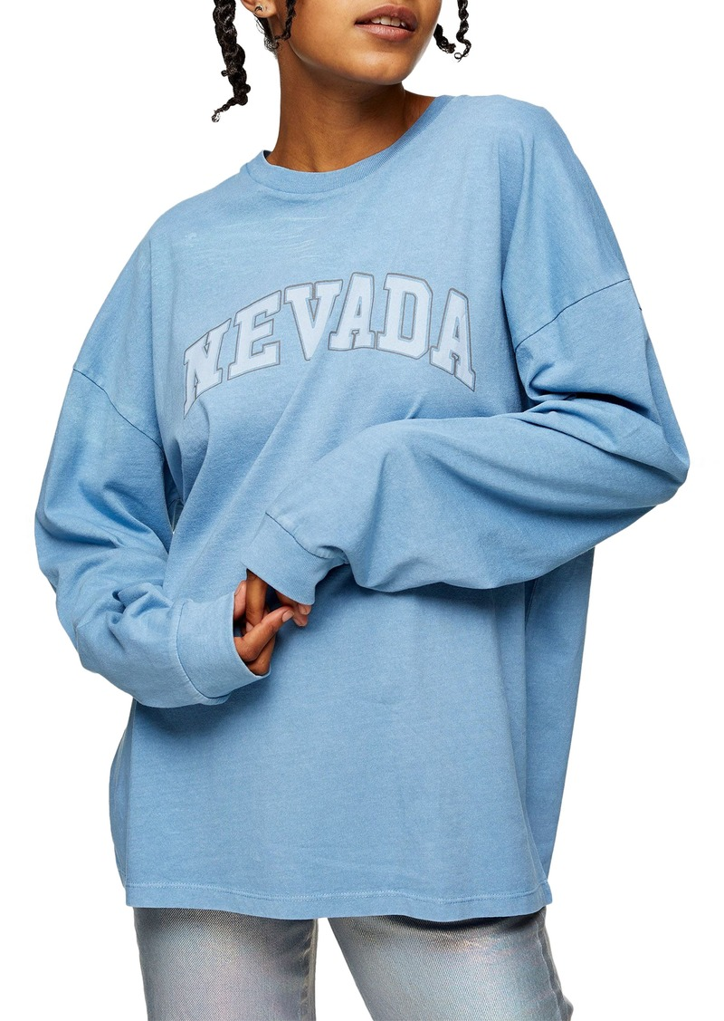 Women's Topshop Nevada Long Sleeve Cotton Graphic Tee