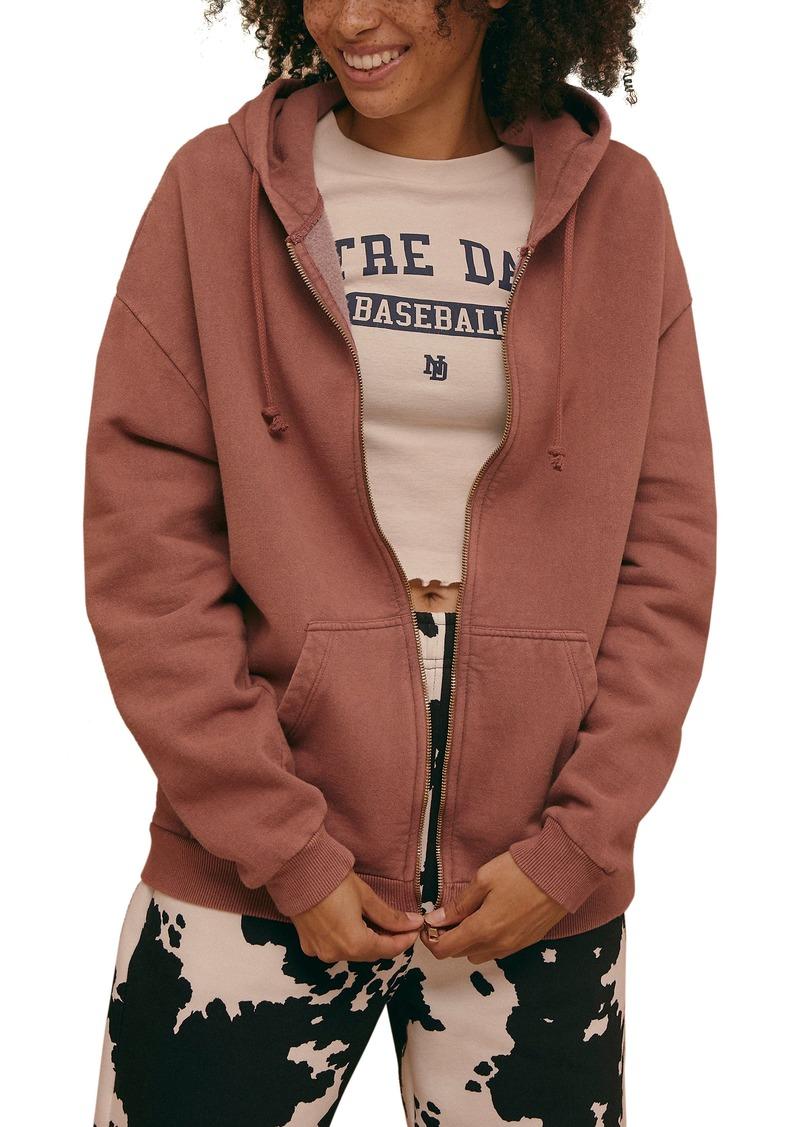 Women's Topshop Oversize Full Zip Hoodie