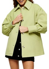 Women's Topshop Puff Sleeve Jacket