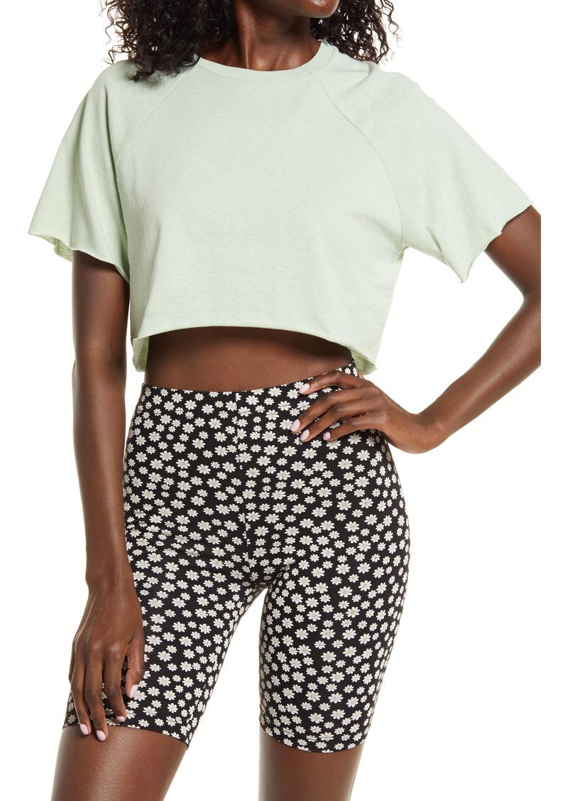 Women's Topshop Raglan Crop T-Shirt