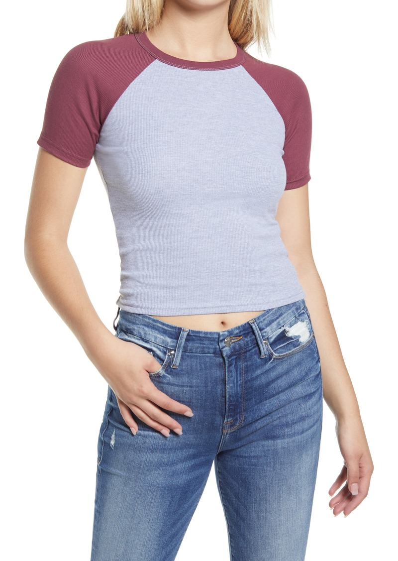 Women's Topshop Raglan Sleeve Baseball T-Shirt