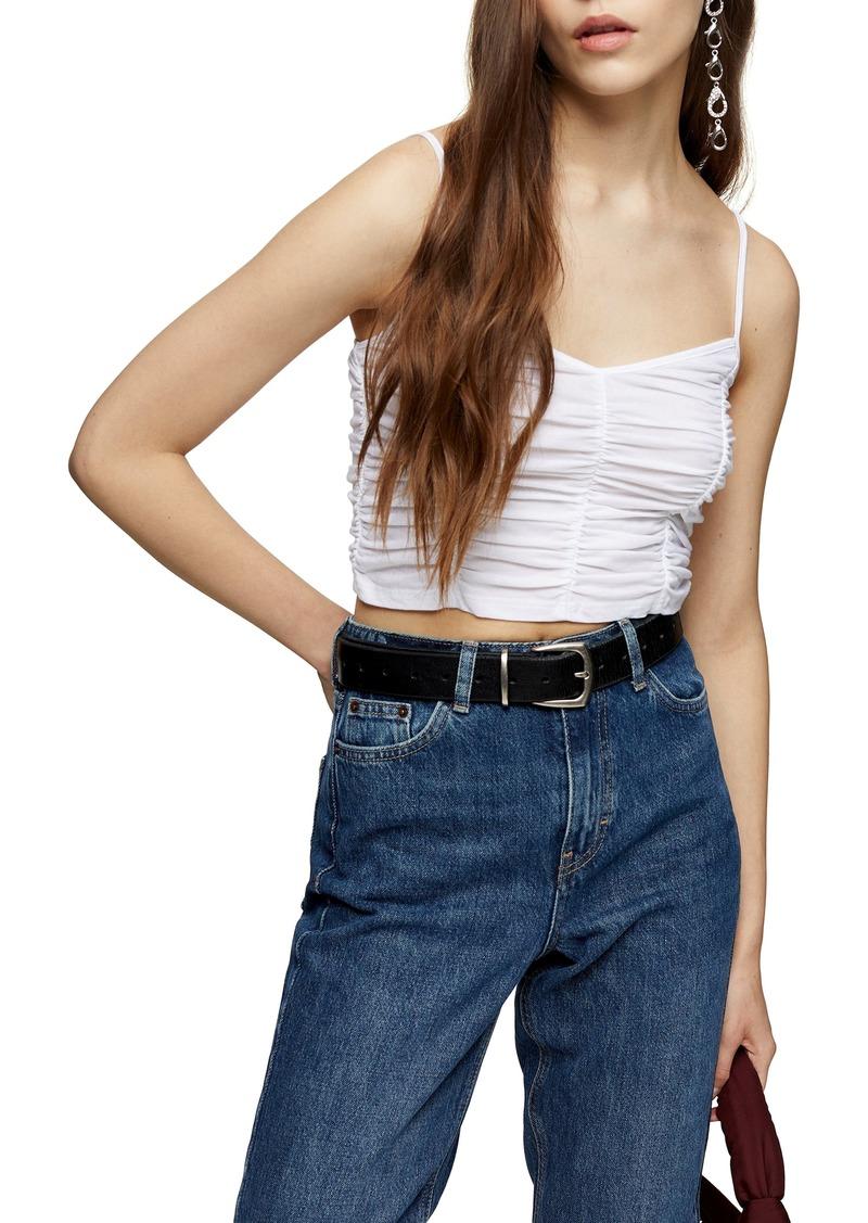 Women's Topshop Ruched Crop Camisole