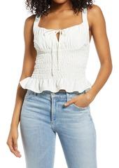 Women's Topshop Shirred Ruffle Camisole