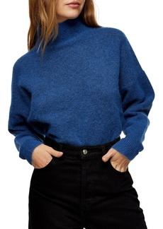 Women's Topshop Textured Funnel Neck Sweater