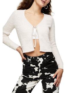 Women's Topshop Tie Front Crop Cardigan