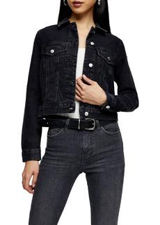 Women's Topshop Tilda Crop Denim Jacket