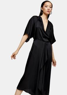 Topshop Wrap Front Dress By Boutique