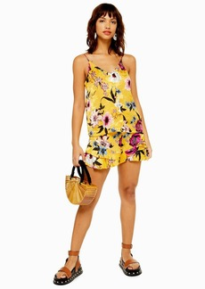Topshop Yellow Floral Shorts