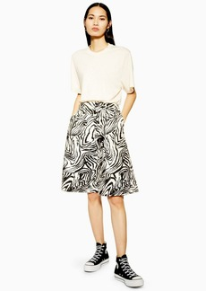 Topshop Zebra Bermuda Shorts By Boutique