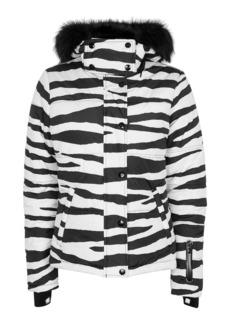 Zebra Printed Ski Jacket By Topshop Sno