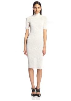 Torn by Ronny Kobo Women's Jake Zebra Pointelle Dress  XS