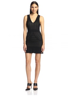 Torn by Ronny Kobo Women's Jodi Military Pointelle Dress  M