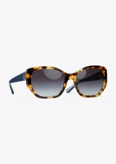 Tory Burch Logo-Hinge Sunglasses