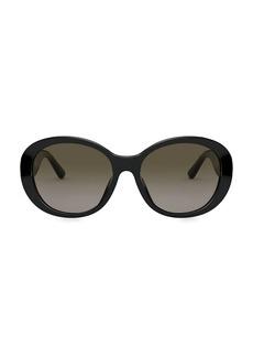 Tory Burch 55MM Tortoise Round Sunglasses
