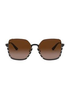Tory Burch 56MM Rectangle Gradient Sunglasses