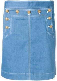 Tory Burch A-line denim skirt
