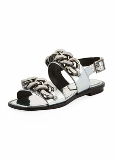 Tory Burch Adrien Flat Chain-Embellished Sandals