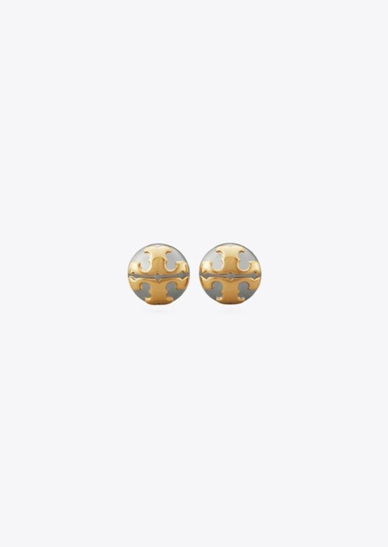 Tory Burch Applied Logo Stud Earring
