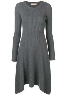 Tory Burch asymmetric knitted sweater dress