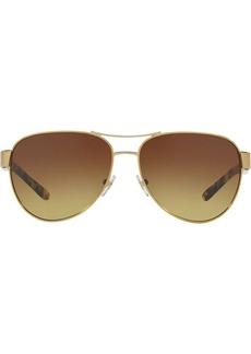 Tory Burch aviator shaped sunglasses