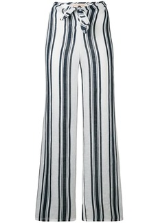Tory Burch awning stripe flared trousers