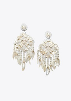 Tory Burch BEADED SHELL STATEMENT EARRING