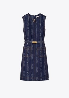 Tory Burch BELTED GEMINI LINK DENIM DRESS