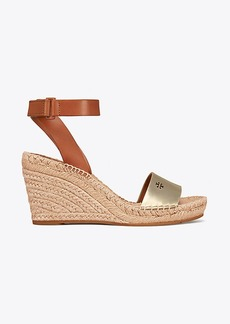 Tory Burch BIMA METALLIC WEDGE ESPADRILLE