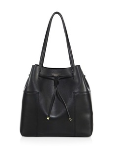Tory Burch Block Leather Bucket Tote