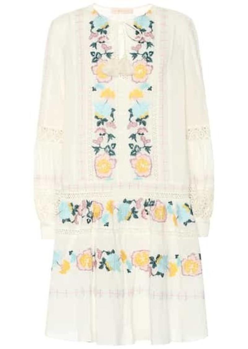 Tory Burch Boho embroidered cotton dress