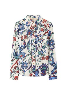 Tory Burch Brigitte Printed Cotton Blouse