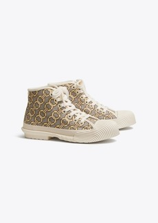 Tory Burch BUDDY JACQUARD HIGH-TOP SNEAKER