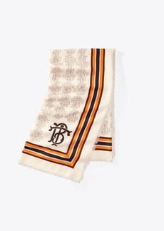 Tory Burch BUDDY LOGO OVERSIZED PRINTED SQUARE SCARF