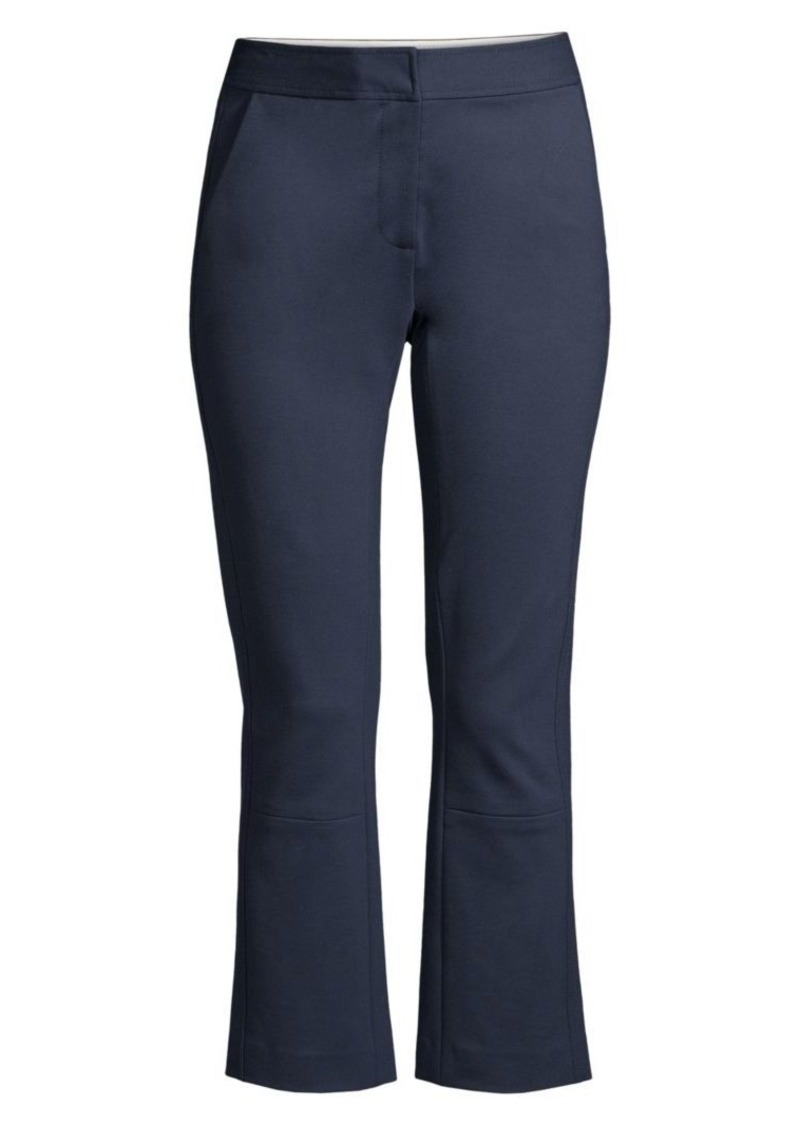 Tory Burch Button Detail Ponte Flare Pants