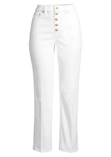 Tory Burch Button-Fly Denim Pant