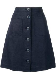 Tory Burch buttoned a-line skirt