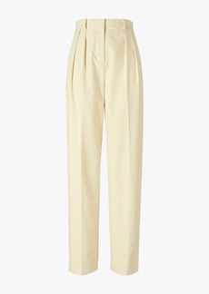 Tory Burch Canvas Pleated Trouser