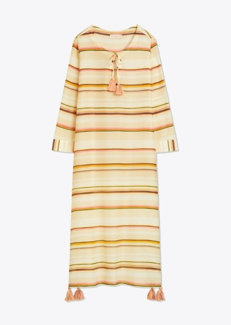 Tory Burch CANYON-STRIPE CAFTAN