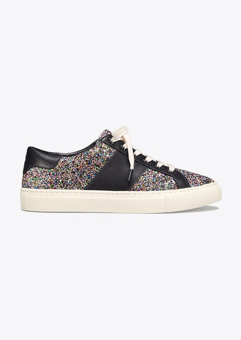 590b14dd2a51 Tory Burch CARTER CONFETTI-GLITTER LACE-UP SNEAKER